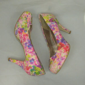 Madden Girl colorful flowery heels spring size 6.5